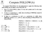 compute follow a