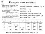 example error recovery