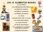los 12 alimentos basura