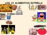los 12 alimentos estrella