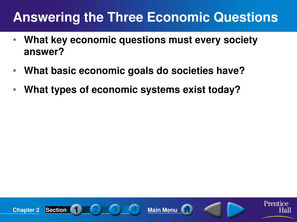 answering the three economic questions l.