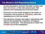 the market s self regulating nature