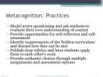 metacognition practices