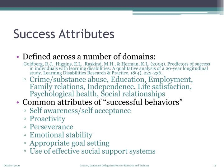 Success Attributes