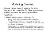 modeling demand