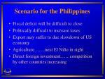 scenario for the philippines