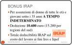 bonus irap
