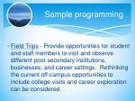sample programming