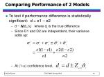 comparing performance of 2 models1