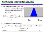 confidence interval for accuracy1