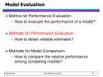 model evaluation1