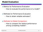 model evaluation2