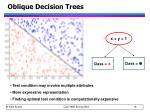 oblique decision trees