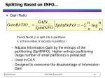 splitting based on info1