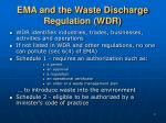 ema and the waste discharge regulation wdr