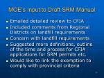 moe s input to draft srm manual