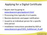 applying for a digital certificate