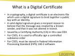 what is a digital certificate