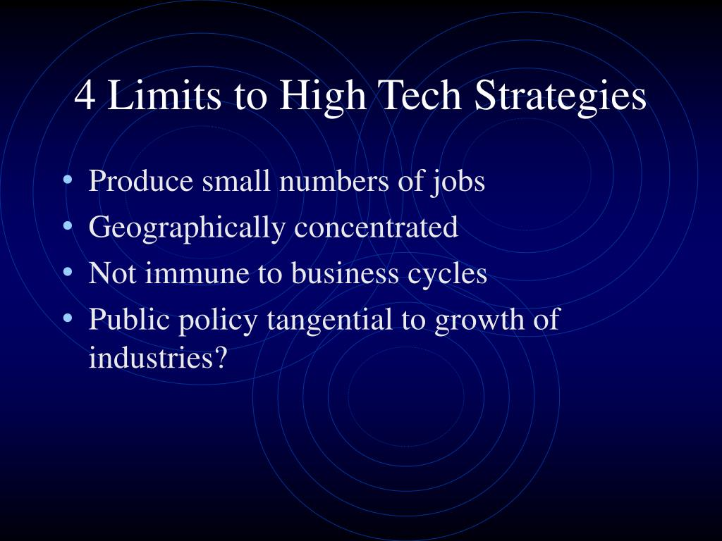 4 Limits to High Tech Strategies
