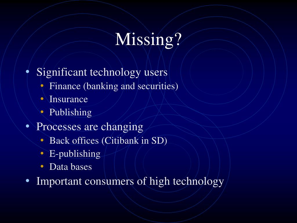 Missing?