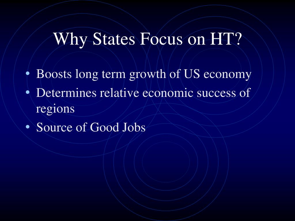 Why States Focus on HT?