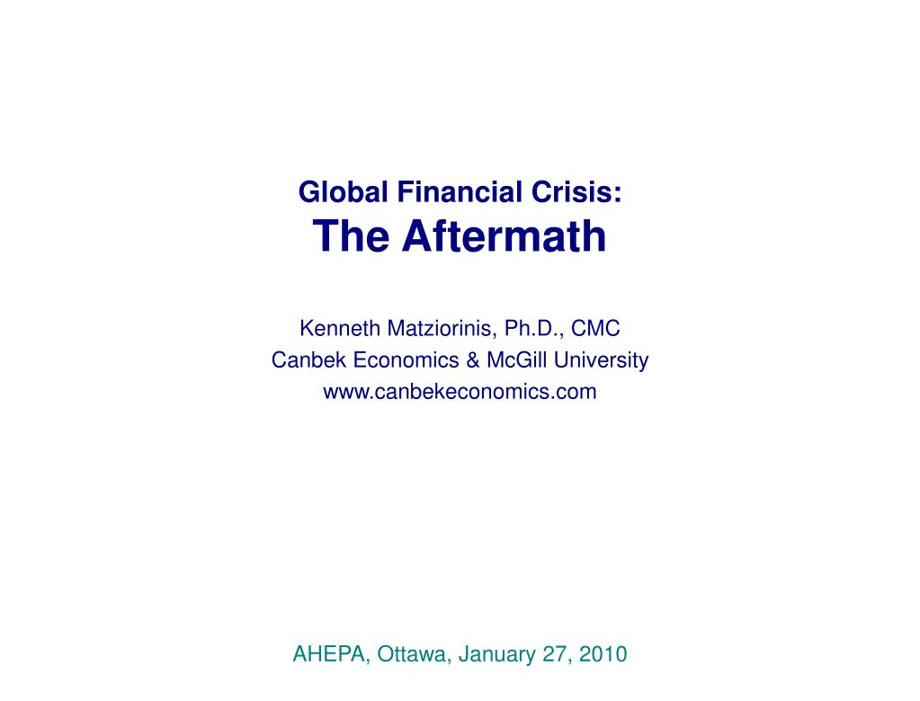 Global Financial Crisis: