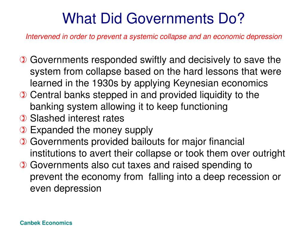 What Did Governments Do?