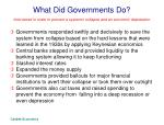 what did governments do
