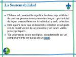 la sustentabilidad