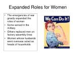 expanded roles for women