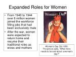 expanded roles for women1