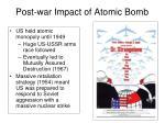 post war impact of atomic bomb1