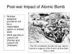 post war impact of atomic bomb2