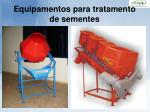 equipamentos para tratamento de sementes