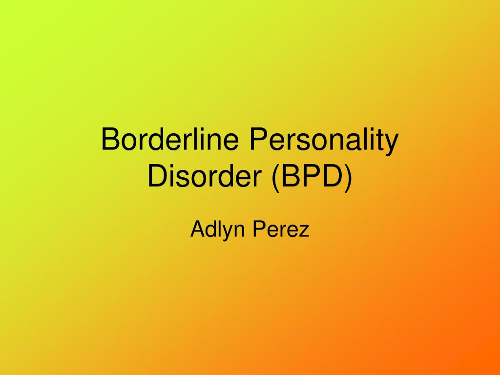 borderline personality disorder thesis