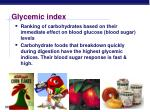 glycemic index1