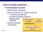 how to build a polymer