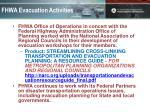 fhwa evacuation activities