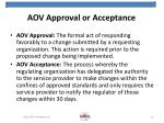 aov approval or acceptance