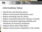 intermediary value