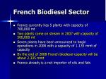 french biodiesel sector