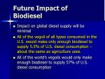 future impact of biodiesel