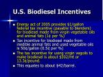 u s biodiesel incentives