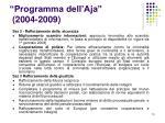programma dell aja 2004 2009