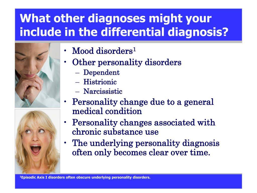 What other diagnoses might your include in the differential diagnosis?