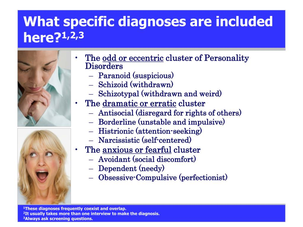 What specific diagnoses are included here?