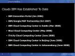 clouds ibm has established to date