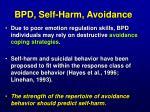 bpd self harm avoidance