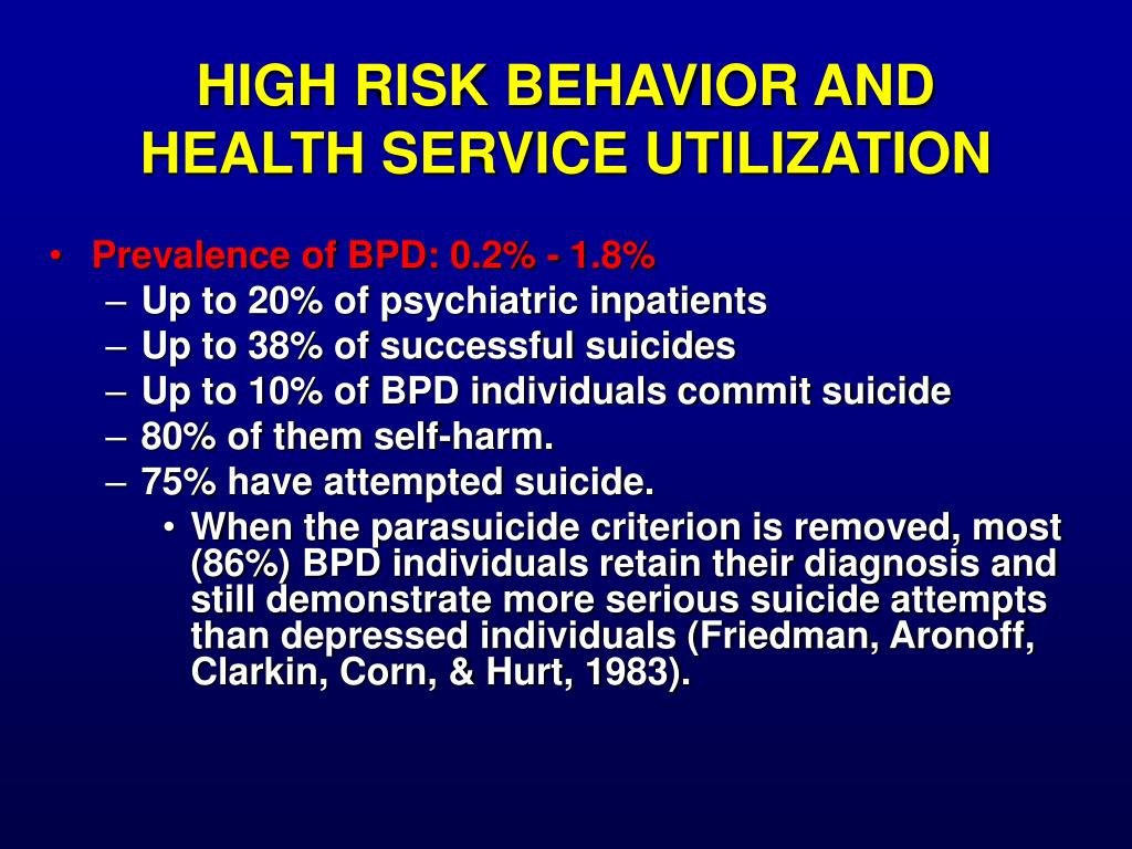HIGH RISK BEHAVIOR AND HEALTH SERVICE UTILIZATION