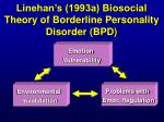 linehan s 1993a biosocial theory of borderline personality disorder bpd